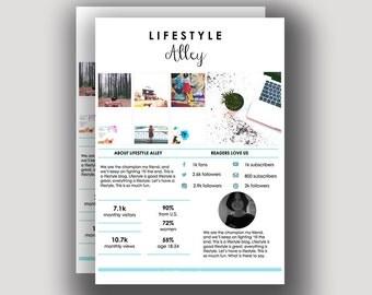 Fully Customizable Media Kit | Microsoft Word 2007 | Full Support