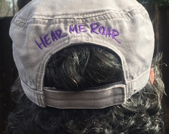Hear Me Roar Emroidered Military Style Hat
