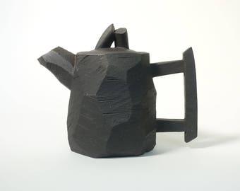 Faceted Black Coffee / Tea Pot