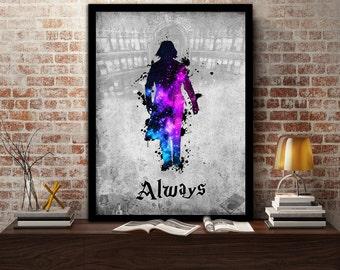 Severus,Snape, Design, Print, Poster, Fan Art, Harry Potter, Half Blood Prince, Slytherin, Hogwarts, Always, Teacher, Potions, Dark Arts
