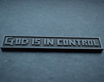 Christian 3D print - God is in control