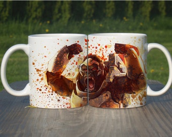 Winston Color Changing Mug, Watercolor Coffee Mug,Overwatch Coffee Cup, Overwatch Winston, M095