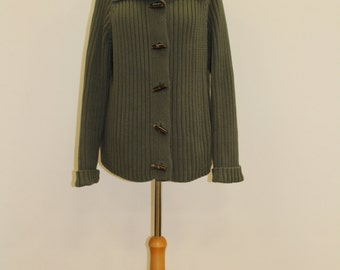 Toggle Button Cardigan (Olive)