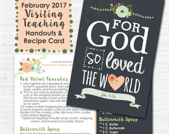February 2017 VT Message - Christ's Atonement Is Evidence of God's Love - Handout, Recipe Card, LDS, Mormon, VT Message, Digital, Printable