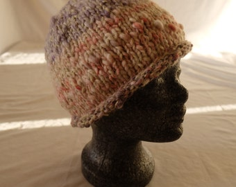 "Knitted hat from hand-spun and gefärbterWolle ""nature pure collection"""