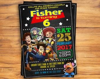 Toy Story invitation, Toy Story birthday invitation, Toy Story Woody invitation, Buzz invitation, Tory Story printable invitation!