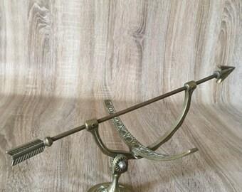 Brass Arrow Sundial Sculpture