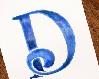 Letter D - Serif Alphabet Prints
