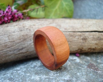 Plum Wood Ring (7 3/4) Hypoallergenic/Handmade Ring/Activate Flow/Wooden Ring/Ring/Band Ring/Wood Jewelry/Plum Tree/Tree Energy/FromHerTrees