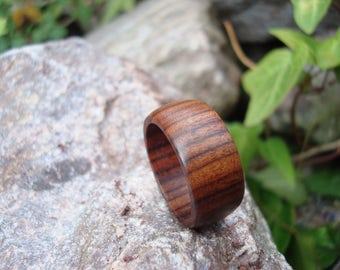 Rosewood Ring (8 1/4) Earth Jewelry/Handcrafted Ring/Natural Wood/Simple Ring/Heart Chakra/Organic Jewelry/Indian Rosewood/FromHerTrees/Gaia