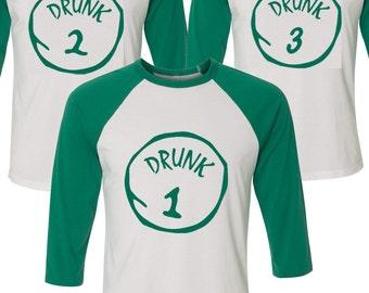 Irish Drunk T-shirt, Thing 1/Thing 2, Irish Drinking Team, St. Patrick's Day Shirt - Irish Drinking T-shirt, Irish Pride T-shirt