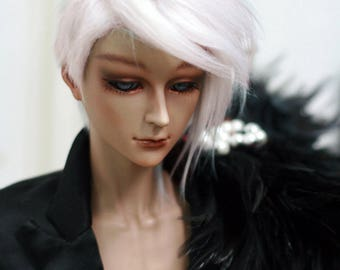 BJD Wig Two Block Pink Gray 9-10 8-9 7-8 6-7 inch Synthetic Fur Wig