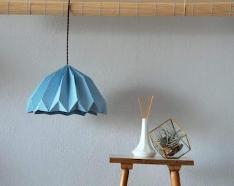 Geometric print origami fold lamp