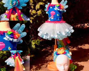 Custom Character Outfit of Choice with Wings, Tail, and Headpiece - My Litte Pony, Rainbow Dash