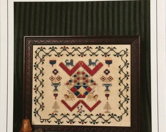 Counted cross stitch chart - reproduction by Threads of Gold - The English Unicorn