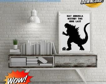 May Godzilla Destroy Our Home Last Digital Art!
