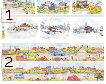 Samples - washi tape samples special ink limited edition landscape seasons 70/90cm <SI201>