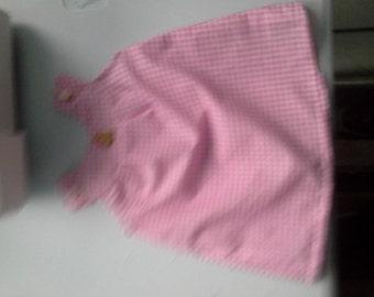 Newborn dress with yoke detail