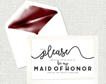 Please Be My Maid of Honor Card