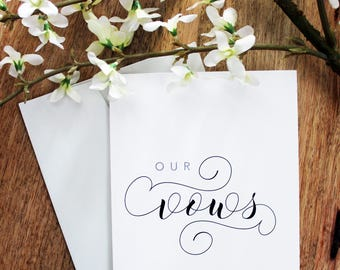 Our Vows // Wedding Day Folded Card