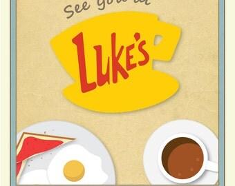 Luke's Diner Gilmore Girls Inspired Poster Print