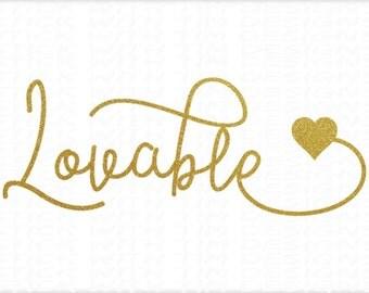 Lovable Svg Valentines Svg Love svg SVG PNG Cutting File Valentines Day svg Baby svg Heart svg Valentine svg files cameo svg cricut svg Love