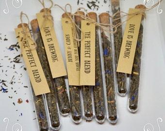 Test tube / T2 tea /wedding gifts / custom favor / tea / Bombinniere /personalised tag / Leaf tea