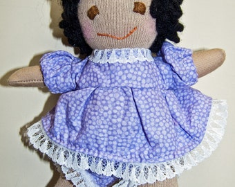 Small Baby-Safe Girl Doll - Brown Complexion