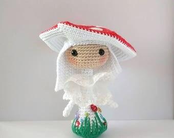 Amanita crochet doll crochet doll
