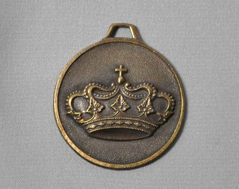French Crown Pendant Medal Made in France 428J