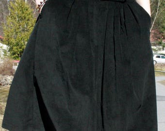 Black Corduroy Skirt