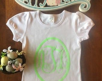 Personalized Glitter Egg Monogrammed Easter Shirt!
