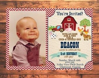 On The Farm Birthday Invitation