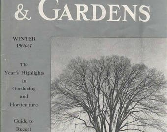Plants & Gardens Brooklyn Botanic Garden Record Winter 1966- 1967 Paperback Book Year's Highlights