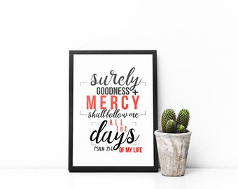 Bible verse wall art, Typography, Graphic Art, Poster, Inspirational, Printable