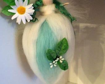 Daisy Needle Felt Fairy, Waldorf inspired fairy