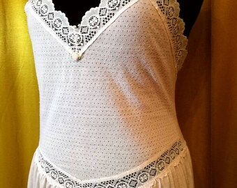 Gorgeous 80s Lace Slip Dress M