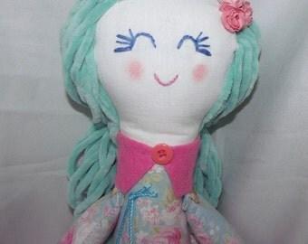 Fanny, pretty fabric doll, toy rag doll, handmade, 62 CM