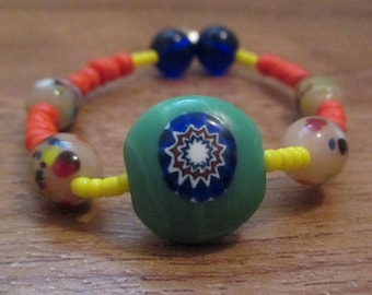 Colorful Beaded Stretch Bracelet