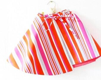 Wrapskirt Girl | Pink Orange | 5-6 years