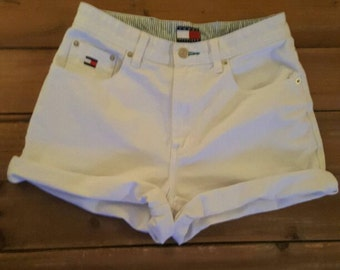 Vintage Woman's Tommy Hilfiger White High Waisted Size 8