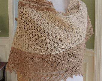 Sale --30% off!!!  Hand knit shawl