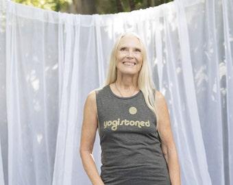 YogiStoned Flowy Scoop Muscle Tank