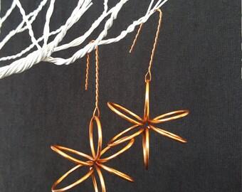 Wire Flower Earrings (LG)