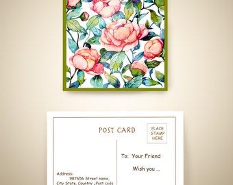 post card - Blomming
