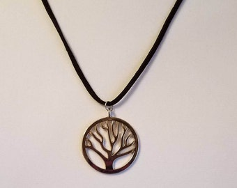 Tree Of Life Suede Leather Rope Necklace ~ Wicca ~ Wiccan