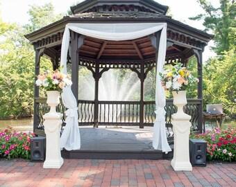 Wedding drapes - gazebo drapes - customized drapes - Gloriette decor