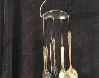 Wind Chime Antiqued Silverware