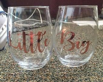 Big/little wine glass