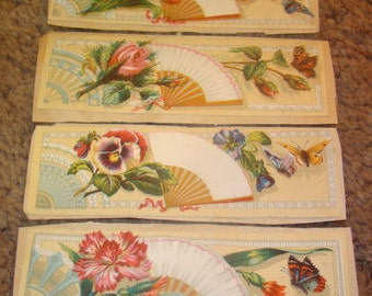 SALE 4 Pieces of Victorian Scrap (Fnas,Flowers, and Butterflies